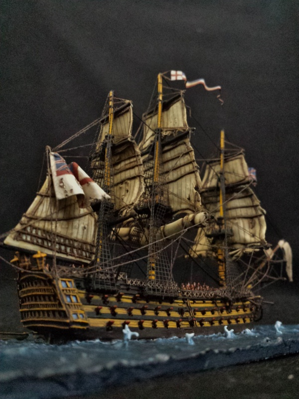 Hms Victory At The Battle Of Trafalgar My First Meridian
