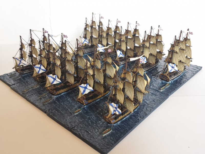 The Tsar's Navy  Langton miniatures scale 1/1200
