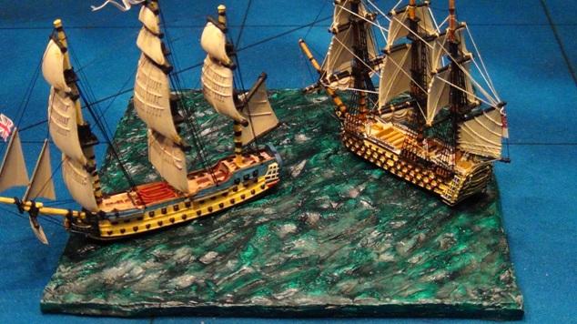 HMS Royal Sovereign Vs  Santa Ana--Langton 1/1200 Build WIP