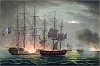 poster capture of la desiree july 7th 1800 from the naval achievements of great britain by james