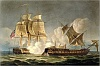 poster capture of la forte february 28th 1799 engraved by thomas sutherland for j jenkinss naval