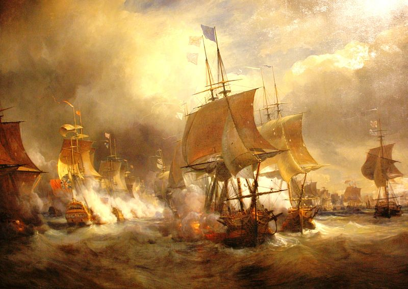 Name:  The First Battle of Ushant by Theodore Gudin.jpg