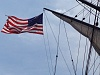 Constitution Spanker and flag halyard detail