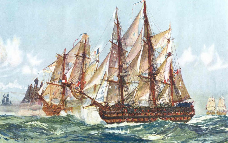 Name:  Taking of the Duguay Trouin - Implacable - after Trafalgar_ 1805 by Charles Dixon.jpg Views: 1711 Size:  193.3 KB