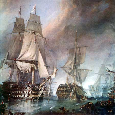 Name:  battle-of-trafalgar Royal Sov rakes Santa Anna..jpg