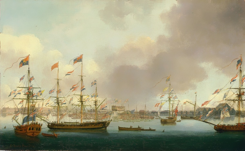 Name:  John_Cleveley_the_Younger,_Launch_of_HMS_Alexander_at_Deptford_in_1778.jpg