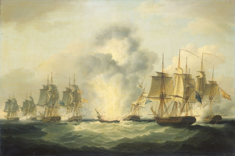 Name:  Francis_Sartorius_-_Four_frigates_capturing_Spanish_treasure_ships,_5_October_1804.jpg