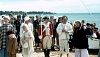 Re enactment Sorrento 14 October 1990 Lady Nelson arrivals at Sullivans Bay Sorrento 300x170