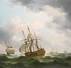 East Indiamen in a Gale