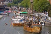 10165378 Bristol England July 31 2011 The replica fifteenth century wooden sail ship The Matthew