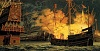 Spanish Armada Pic   Artists impression of the fire ship attack.