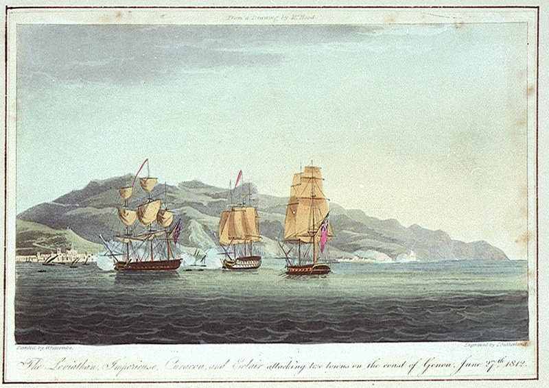 Name:  Attack_on_convoy_of_eighteen_French_merchant_ships_at_Laigrelia.jpg Views: 63 Size:  228.5 KB