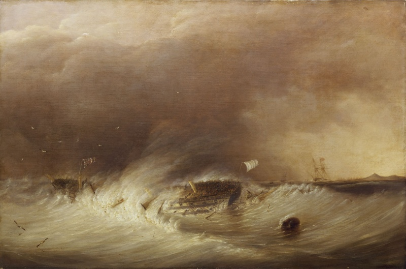 Name:  The_wreck_of_HMS_Hero_in_the_Texel,_25_December_1811.jpg