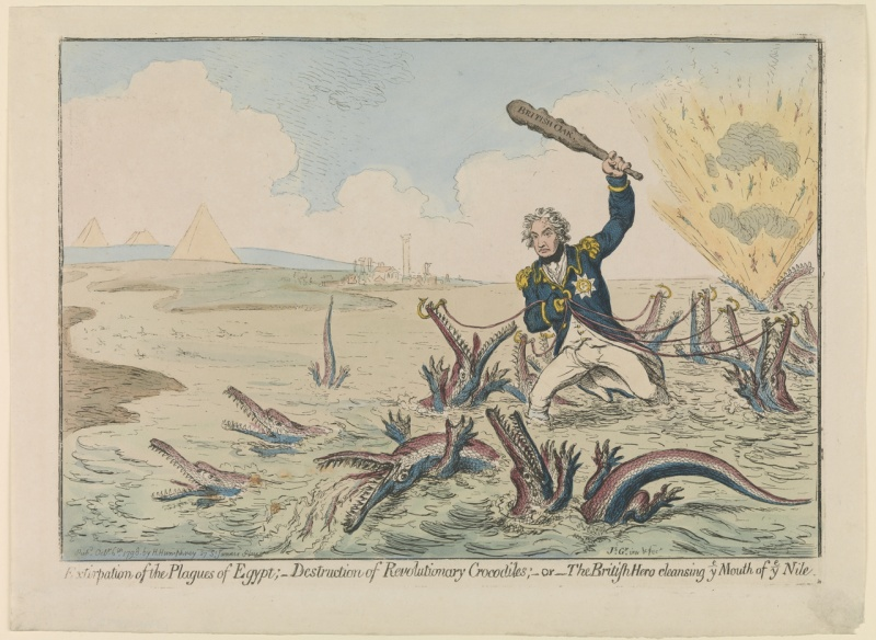Name:  James_Gillray_Cartoon_Nelson_destroying_Revolutionary_Crocodiles_Nile_1798.jpg