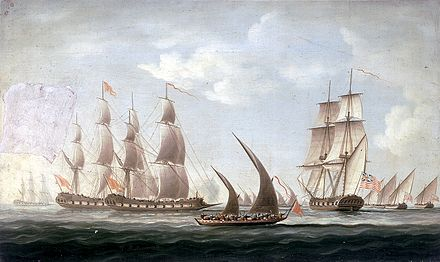 Name:  Mahratta_pirates_attacking_the_sloop_'Aurora',_of_the_Bombay_Marine,_1812;_beginning_of_the_acti.jpg