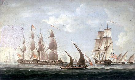 Name:  Mahratta_pirates_attacking_the_sloop_'Aurora',_of_the_Bombay_Marine,_1812;_beginning_of_the_acti.jpg Views: 57 Size:  25.8 KB