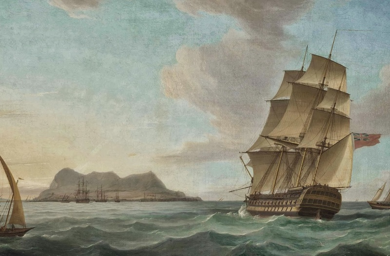 Name:  1820s - Thomas Whitcombe - RN THird rate arr iving at Gibraltar.jpg