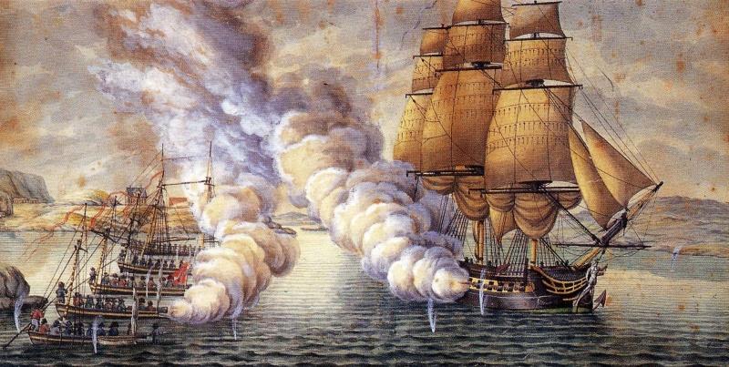 Name:  Gunboat_battle_near_Alvøen_Norway.jpg Views: 118 Size:  204.9 KB