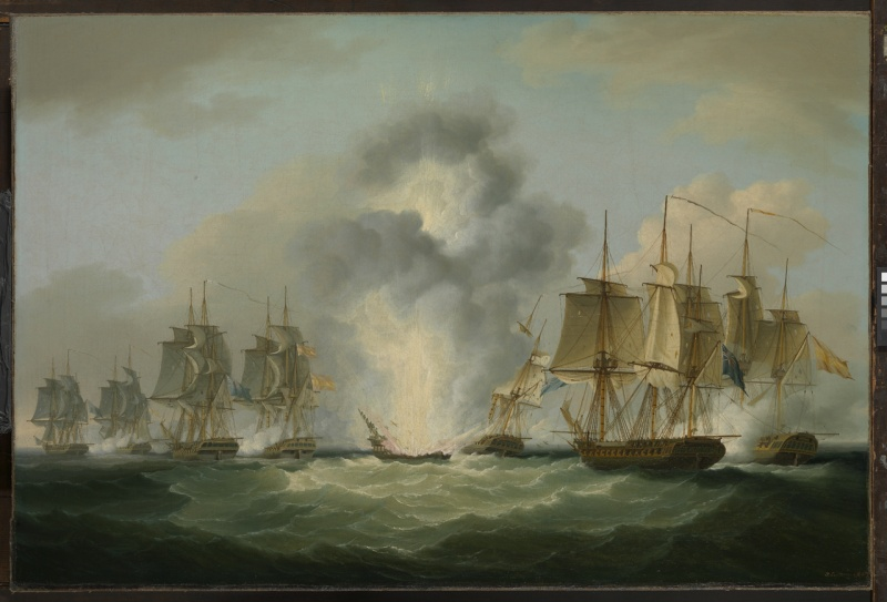 Name:  The sinking of the Mercedes by Nicholas Pocock.jpg Views: 27 Size:  114.1 KB