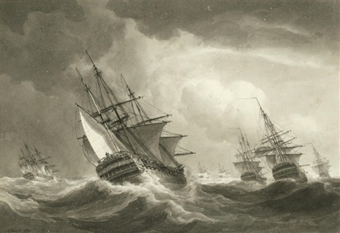 Name:  nicholas-pocock-under-courses_-the-fleet-at-sea-and-reefed-down-in-a-heavy-gale.jpg