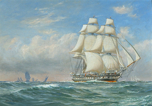 Name:  1965c-034-CD1935-037trimsharpcropsweb-Unicorn-Exterior-Harold-Wyllie-Oil-Painting-under-sail.jpg