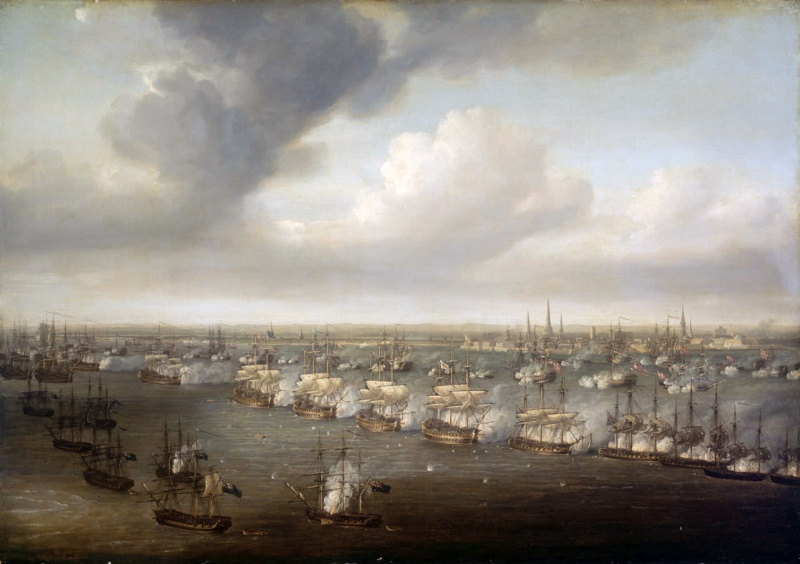 Name:  Nicholas_Pocock_-_The_Battle_of_Copenhagen,_2_April_1801.jpg