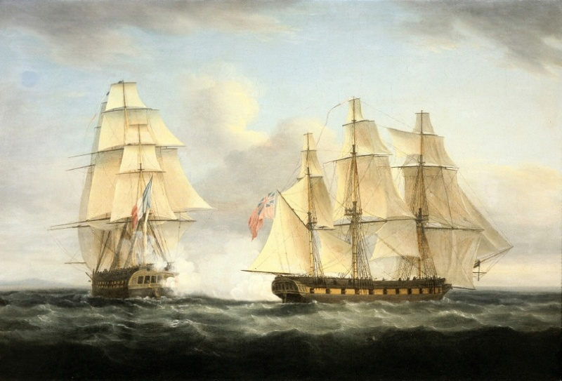 Name:  The_Capture_of_the_French_Frigate_Le_Serene_by_the_English_Frigate_Boreas_(Aigle),_by_Thomas_Whi.jpg