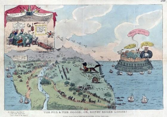 Name:  Fox-and-the-Goose-or-Boney-Broke-Loose-Napoleon-caricature-Elba.jpg Views: 42 Size:  71.7 KB