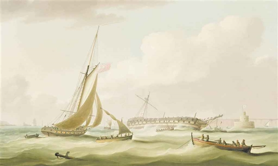 Name:  ButtersworthThomas Wreck of Bombay Castle.jpg