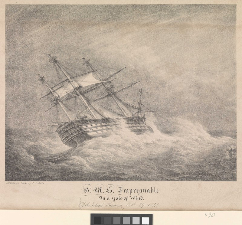 Name:  lossy-page1-800px-H_M_S__Impregnable_In_a_Gale_of_Wind_of_the_Island_of_Sardinia_Octbr_29_1841_R.jpg Views: 137 Size:  142.4 KB