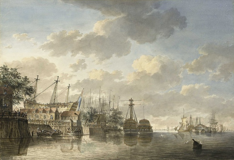 Name:  1024px-H_M__Ship_'Queen'_at_the_King's_Dock_Woolwich_RMG_PY4030_(cropped).jpg
