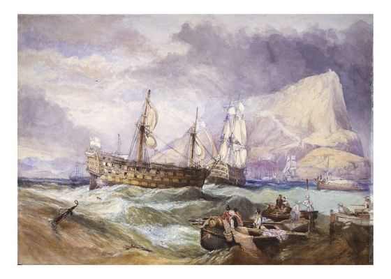 Name:  HMS_Victory_towed_into_Gibraltar.jpg