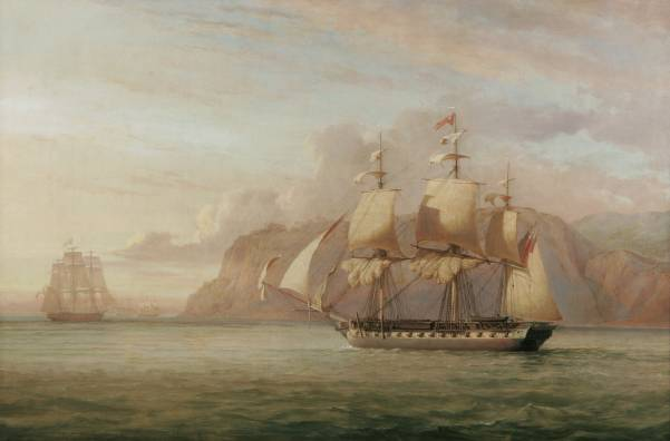 Name:  John_Christian_Schetky,_HMS_Amelia_Chasing_the_French_Frigate_Aréthuse_1813_(1852).jpg