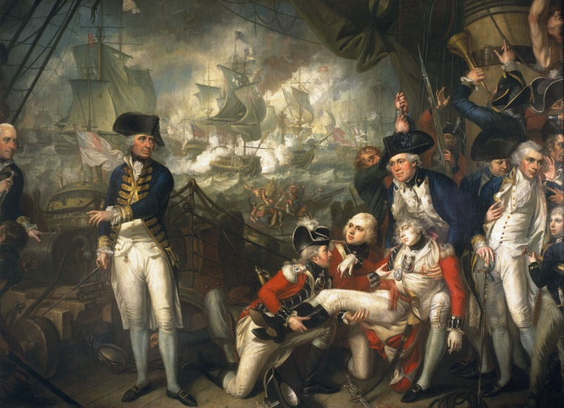 Name:  Lord_Howe_on_the_deck_of_HMS_Queen_Charlotte_1_June_1794.jpg